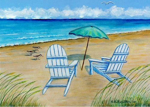 Adirondack Chairs Floor Mat: Beach Decor, Coastal Decor, Nautical Decor, Tropical Decor, Luxury Beach Cottage Decor