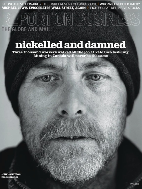"""Gold winner in Portrait #Photography. """"Nickelled and Damned"""" by Louie Palu published in Report On #Business, 2010."""