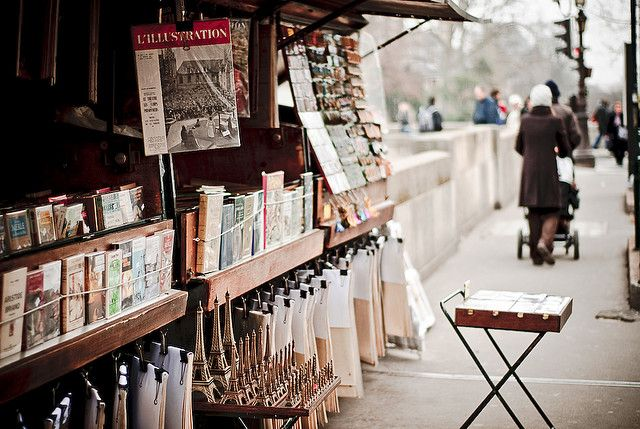 Book stalls along the Seine
