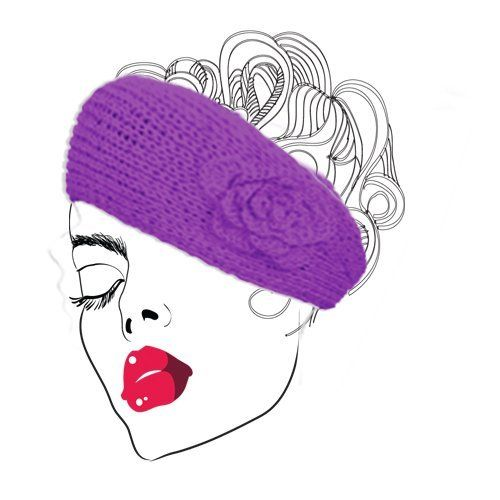 Angel Hand Made Acrylic Headband Hat Scarf Purple by SpinningDaisy. $9.99. This lovely acrylic hair band accessory with floral accent is perfect for winter days for warming your head and not to mention cute fashion accessory. It also can be used as tight neck scarf which just warms your neck not like long scarf draping all over.