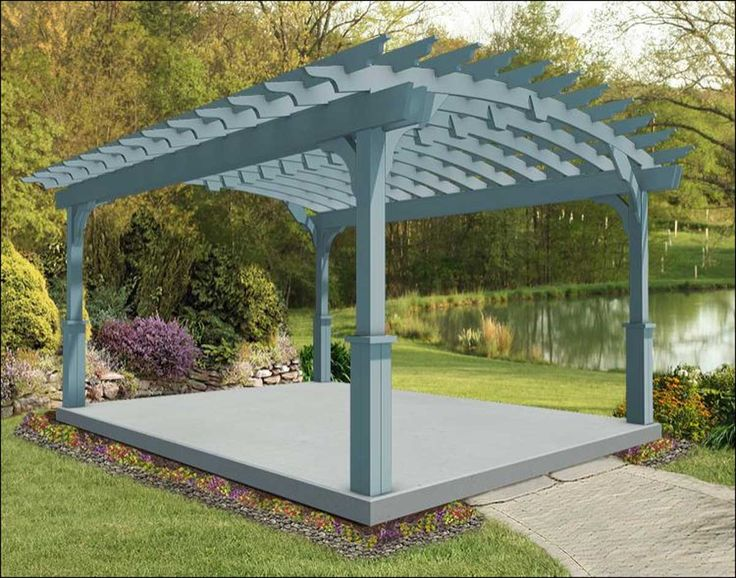Treated Pine Arched Free Standing Pergolas | Pergolas by Style ...