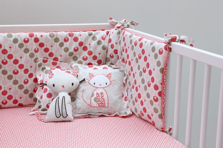 Ella & Otto Bumper & Sheet Set Lollipop Tearose Design