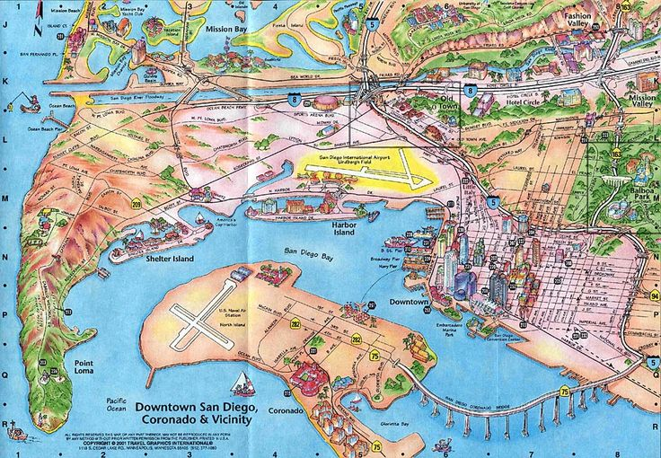 San Diego Sightseeing Map – Tourist Attractions Map In San Diego