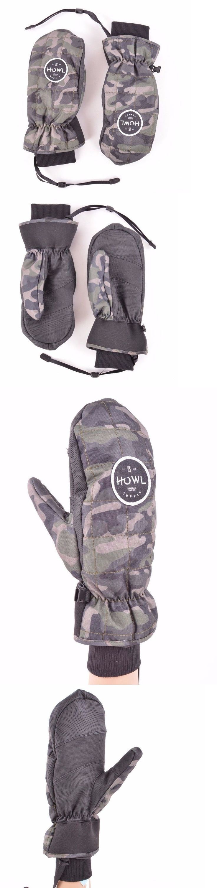 Gloves and Mittens 62172: 2017 Nwt Mens Howl Jed Snowboard Mitt $49 S Camo Black Gloves Mittens Anderson -> BUY IT NOW ONLY: $36.75 on eBay!