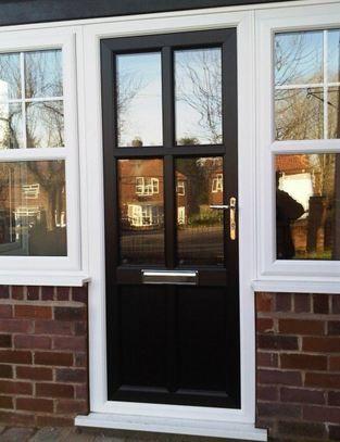 Traditional UPVC front door in black & 7 best VEKA Doors images on Pinterest | Upvc windows Entrance doors ...