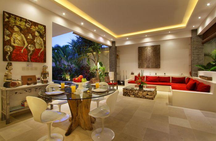 #RuangTamu dengan #Ruang makan terbuka #modernVilla