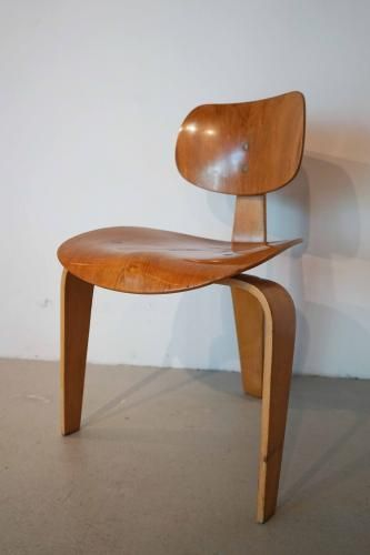German Honey Wood Chair by Egon Eiermann for Wilde & Spieth, 1957 for sale at Pamono