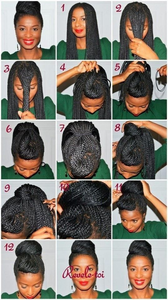 Double Bun | 21 Awesome Ways To Style Your Box Braids And Locs