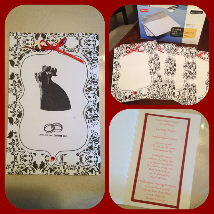 wedding invitations from michaels crafts%0A Invitation ideas for a red  black  and white wedding      Michaels Craft