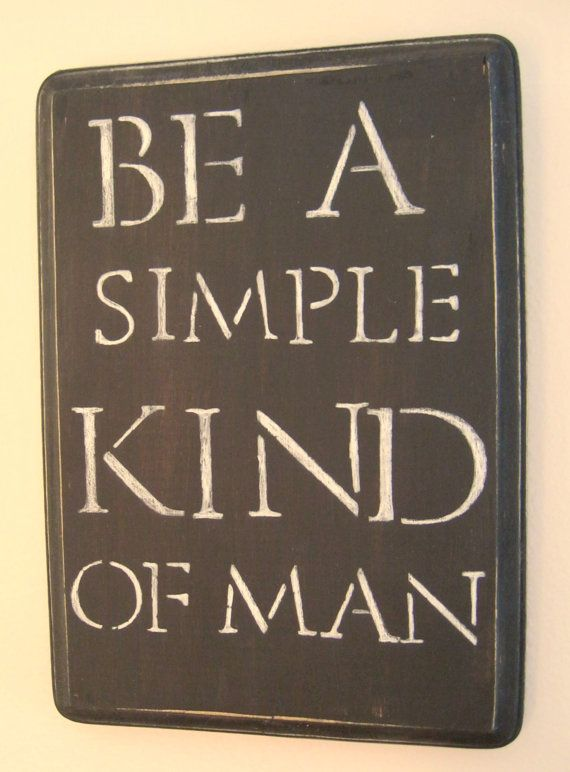 Simple Man Quote Wall Plaque  black by MaryBettyBoutique on Etsy, $18.95 #skynyrd