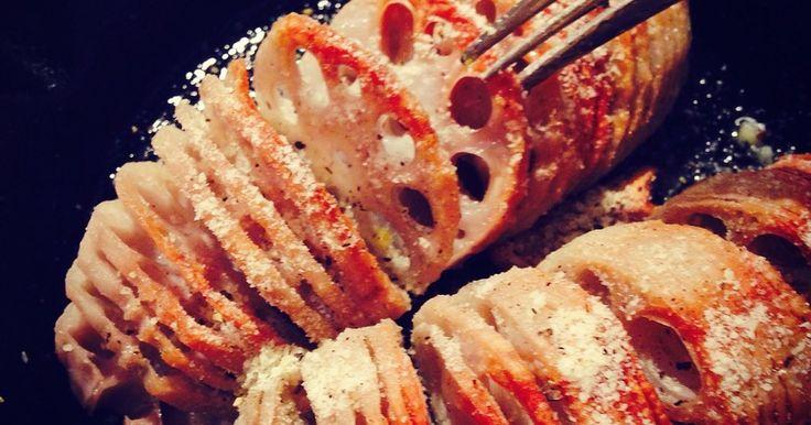ハッセルバック蓮根☆カリカリほっくり by ふじたかな [クックパッド] 簡単おいしいみんなのレシピが252万品