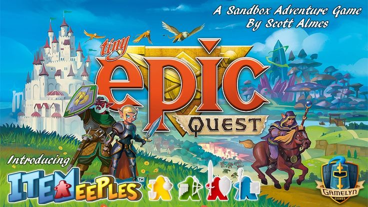 With your group of meeple adventurers you are about to head out on a Tiny Epic Quest where you will fight monsters and find treasure.