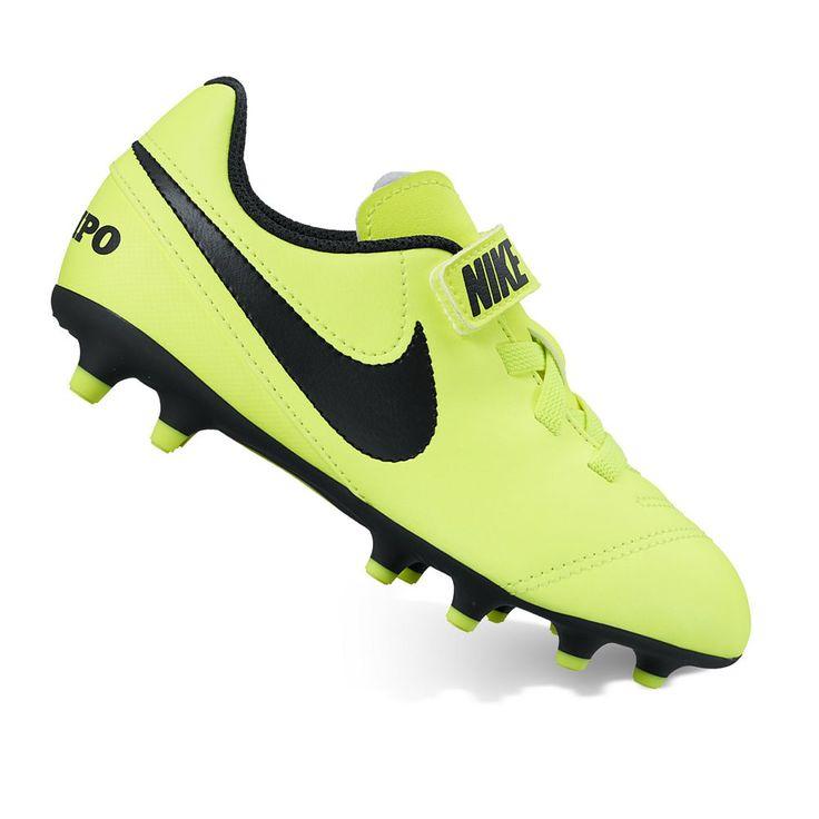 Nike Jr. Tiempo Rio III V Firm-Ground Kids' Soccer Cleats, Kids Unisex, Size: 13, Drk Yellow