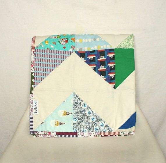 Handmade chevron baby quilt by Lukku on Etsy, $159.00