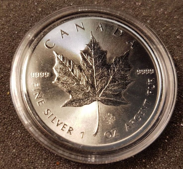 2014 1 oz Silver Canadian Maple Leaf Coin Brilliant Uncirculated, Encapsulated | eBay