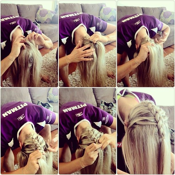Chelsea Pitman shows how she gets her hair game day ready! Love the braid!