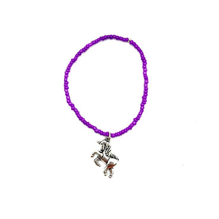 Unicorn Charm Bracelet, silver unicorn, purple bracelet, seed bead bracelet, friendship bracelet, be yourself, be a unicorn, gift under 10 by SepheneJewelry on Etsy https://www.etsy.com/listing/539642055/unicorn-charm-bracelet-silver-unicorn