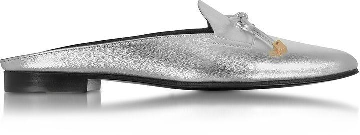 Pierre Hardy Mademoiselle Jacno Silver Metallic Leather Mule