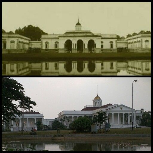 Bogor Palace (1850 - 2016) pada awalnya adalah bangunan bertingkat tiga yang dibangun pada tahun 1744. Pada tahun1850 istana bogor dibangun kembali, tetapi tidak bertingkat lagi karena disesuaikan dengan situasi daerah yang sering gempa. Pada masa pemerintahan Gubernur JenderalAlbertus Jacob Duijmayer van Twist(1851-1856) bangunan lama sisa gempa itu dirubuhkan dan dibangun dengan mengambil arsitektur Eropa abad ke 19. (Wikipedia)