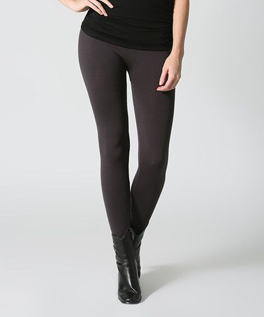 Another great find on #zulily! Charcoal Leggings - Plus by 42POPS #zulilyfinds