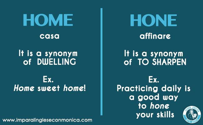 Confusing words of the day: HOME or HONE? 👉 VUOI IMPARARE L'INGLESE 🇬🇧GRATIS e in 4 SEMPLICI PASSI? CLICCA QUI: https://www.imparalingleseconmonica.com/opt-in/  #Englishsnippets #confusingwords #imparalingleseconmonica