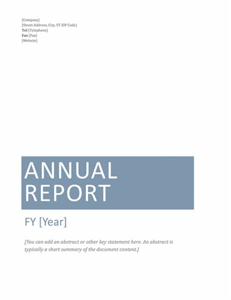 Annual report (Timeless design)