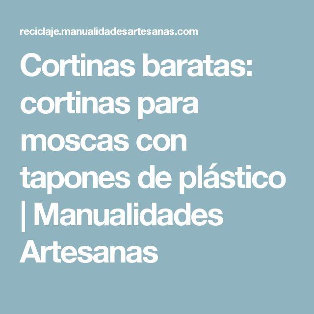 Cortinas baratas: cortinas para moscas con tapones de plástico | Manualidades Artesanas