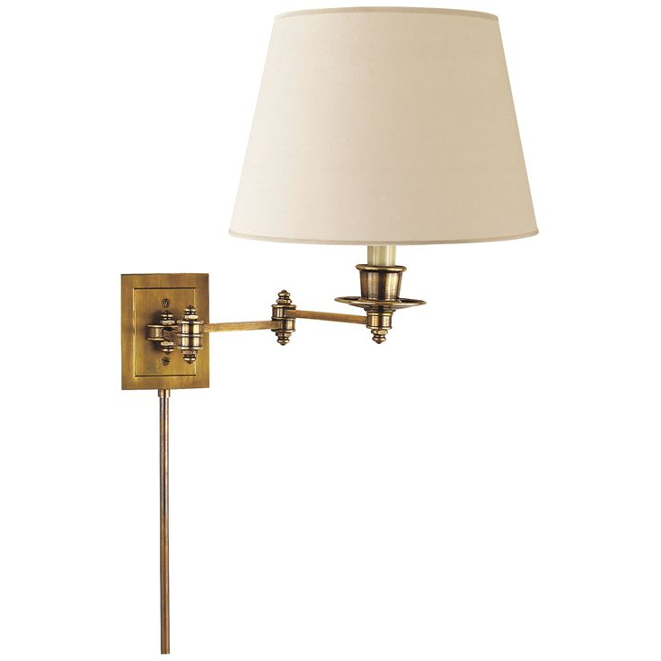 Hand-Rubbed Antique Brass with Natural Paper Shade