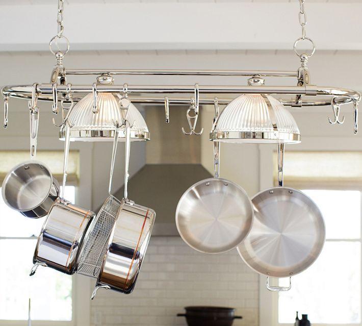 ... Kitchen Pot Racks With Lights