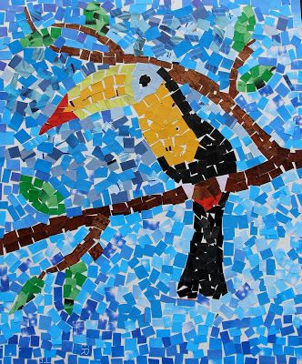 Paper Mosaic Toucan | Art for Everyone
