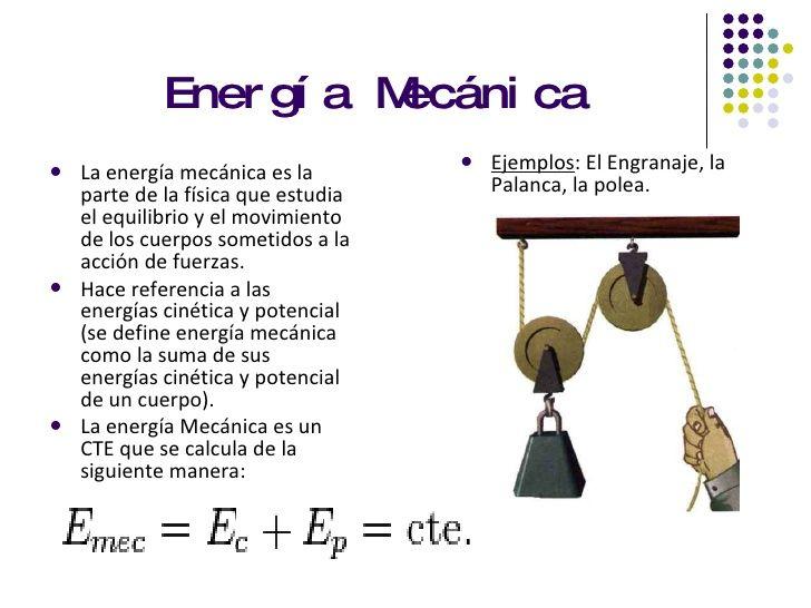 Formulas De Energia Mecanica Energía Cinética Física Energía