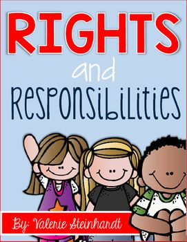 JUST UPDATED!! This unit features 5 activities about rights and responsibilities in our community and school. It could be used anywhere from Kindergarten up to 2nd or even 3rd grade. Included in this set:-Posters with definitions and examples-Rights and responsibilities bubble map- Students give several examples of each.-Writing activity- Students write rights and responsibilities of their own made up land-Flipbook- Rights in my community/ Responsibilities in my community-9 large cards for…