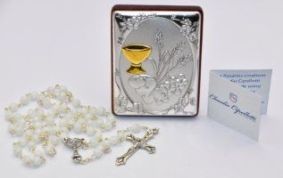 Mother of Pearl First Holy Communion Rosary.