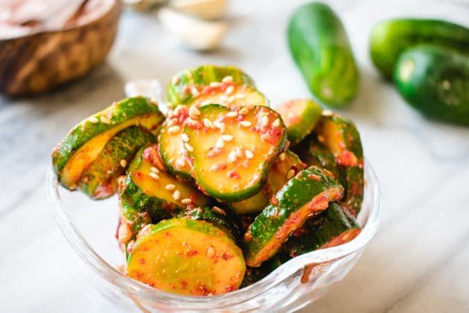 سلطة الخيار الاسيوي In 2020 Asian Salad Food Cucumber