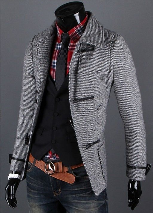 Fashion Korean Fashion Slim Fit Collection Men's Premium Casual Coat Jacket
