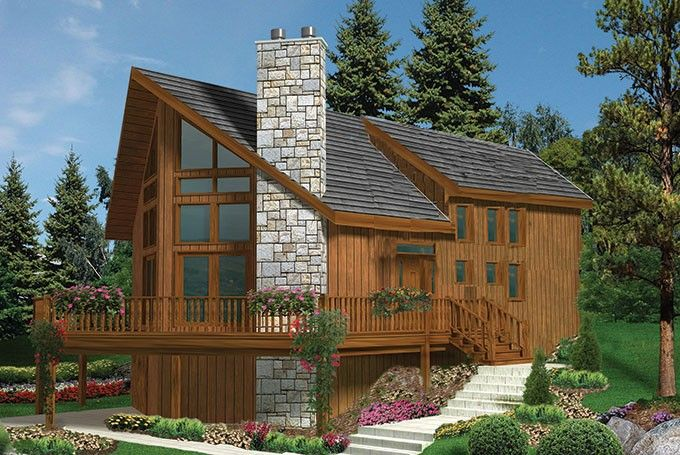 Chalet House Plan with 1721 Square Feet and 3 Bedrooms from Dream Home Source   House Plan Code DHSW70451