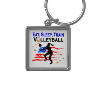 LIVING MY VOLLEYBALL DREAM DESIGN KEYCHAIN Calling all Volleyball players! Awesome Volleyball designs on Tees and Gifts. http://www.zazzle.com/mysportsstar/gifts?cg=196107884926703578&rf=238246180177746410  #Volleyball #VolleyballGirl #Beachvolleyball #Lovevolleyball