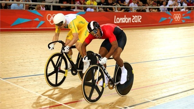 Day 10 Australia's Shane Perkins collected a bronze medal after defeating Njisane Nicholas Phillip of Trinidad and Tobago in the Men's Sprint - Photos - Olympic Cycling track | London 2012 Olympics