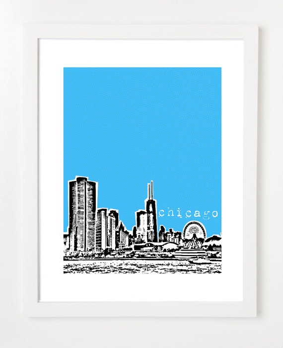 Chicago skyline print