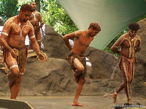 Australia: This is at an Aboriginal Cultural Center outside of Cairns. Here they are doing a kangaroo dance.