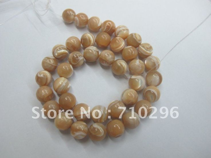 Мода Море Стеклянные Бусы 10 мм Природный Shell Мода Beads.40cm/strand