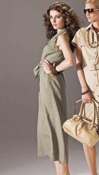 Оливковое платье - выкройка № 119 из журнала 5/2007 Burda – выкройки платьев на Burdastyle.ru http://burdastyle.ru/vikroyki/platya/olivkovoe-plate-burda-2007-5-119/