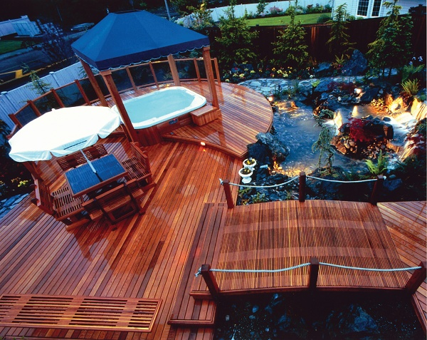 Top 25 ideas about hot tub deck ideas on pinterest hot for Spa deck design