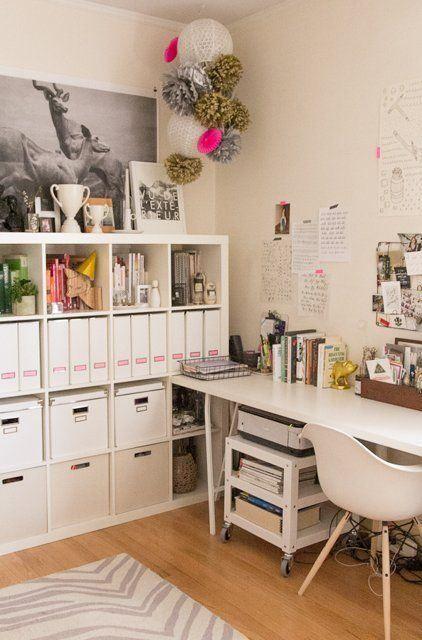 Skrivbordsinspiration.  Craft room.  More inspiration on www.smpl.nu