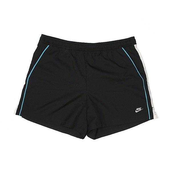 Nike Athletic Shorts ($11) ❤ liked on Polyvore featuring activewear, activewear shorts, black, nike, nike sportswear and nike activewear