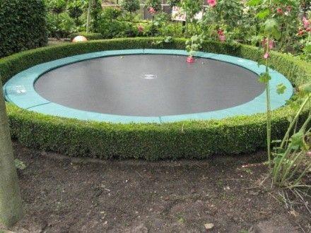 trampoline met buxus