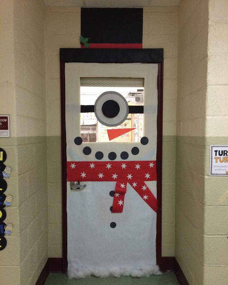 Minion Snowman Door Decoration : )