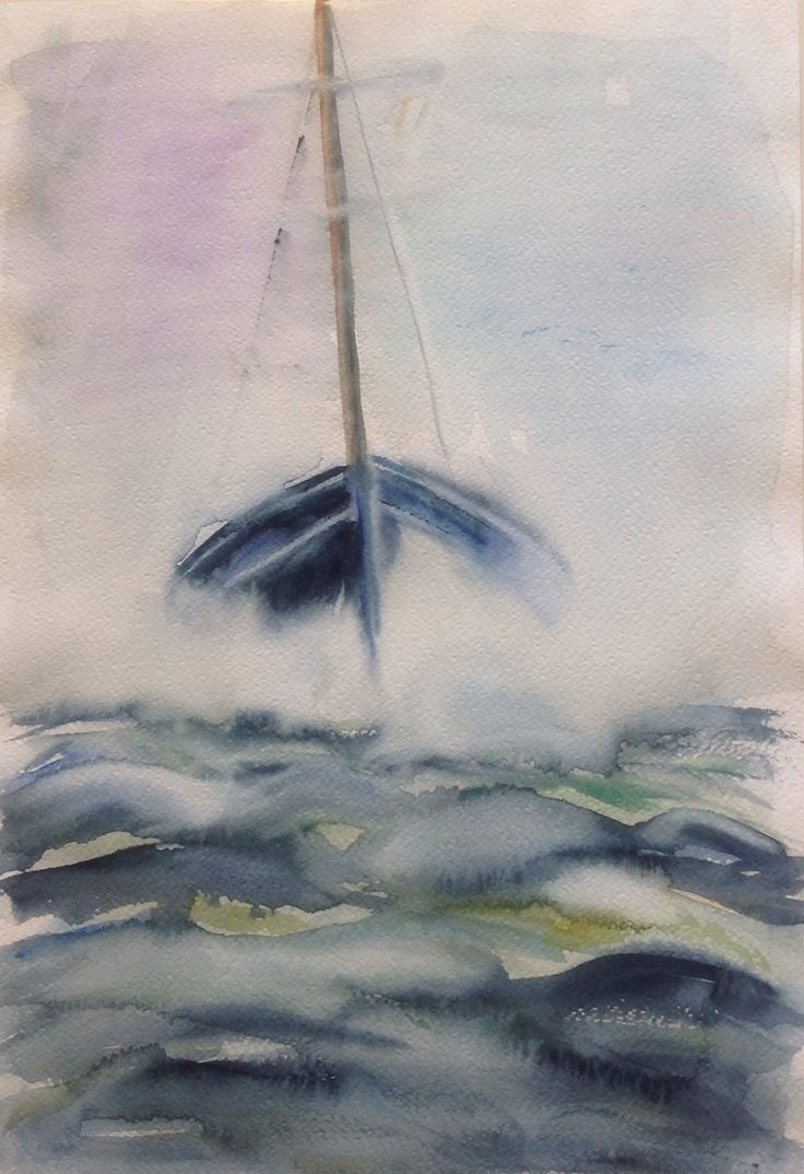 Watercolor 2016, Back home, Olavi Alanko
