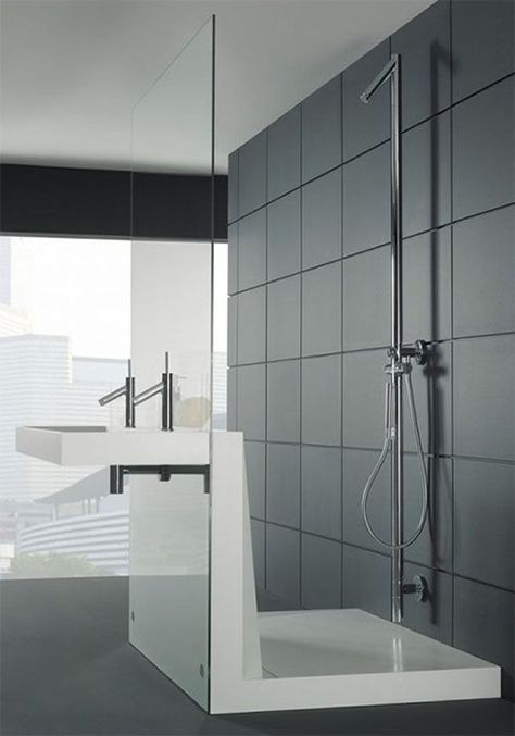 Bathroom:Stylish Bathroom By Duscholux Made For Tile Single White Shower Bases And Shower Pans Stainless Steel Chicago Faucets $200 Touch On...