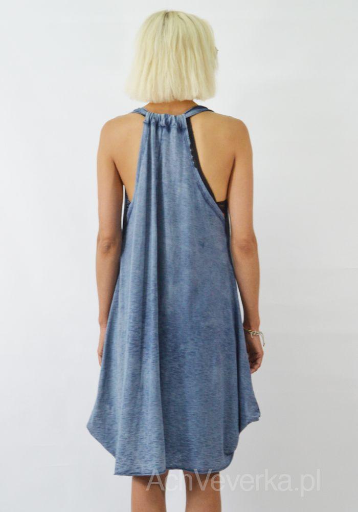 WŁOSKA NIEBIESKA SUKIENKA OVERSIZE AchVeverka.pl #sukienka #tunika #denim #sukienkanalato #achveverka #niebieskasukienka #bawełniana #bluedress #dress #summerdress